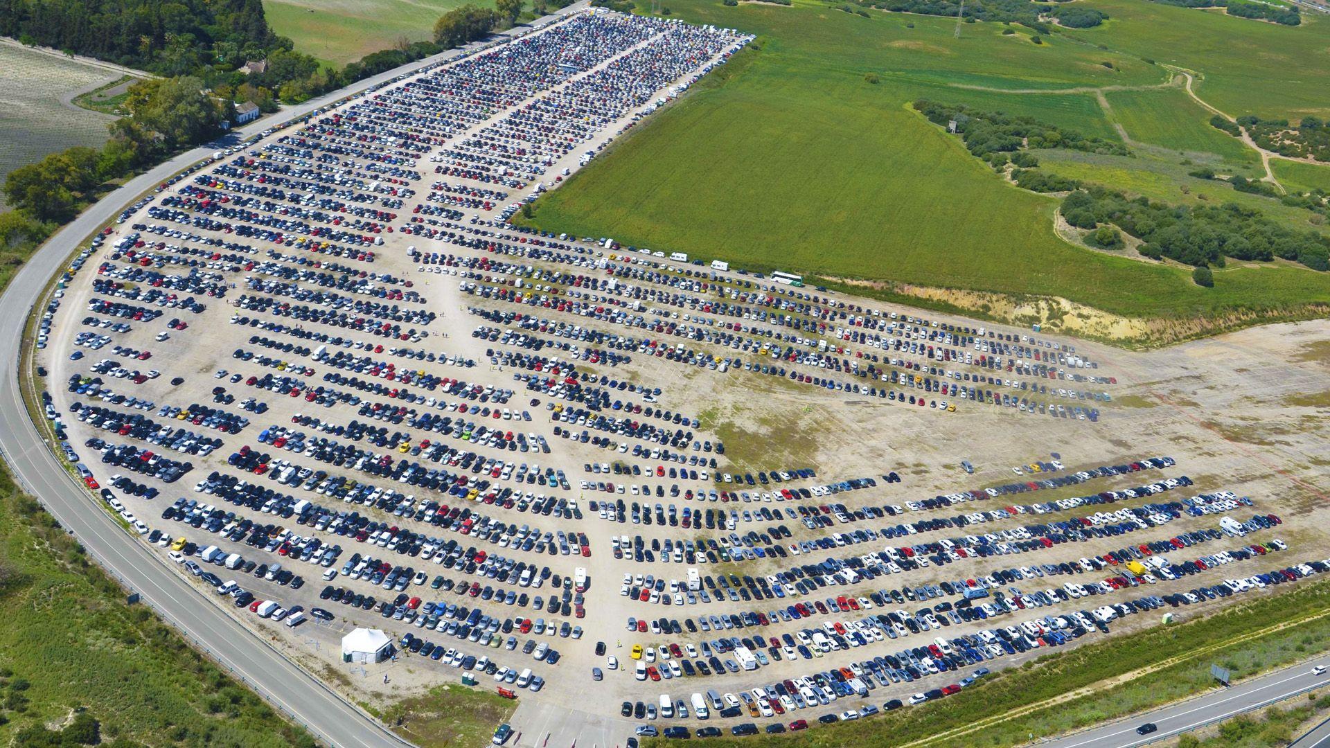 aparcamiento circuito Jerez 1