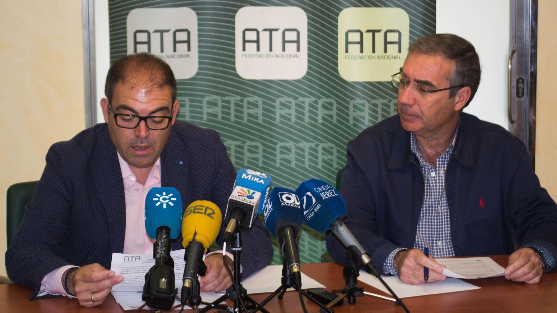 Lorenzo Amor y Manuel García en rueda de prensa | Pablo Illanas para MIRA Jerez
