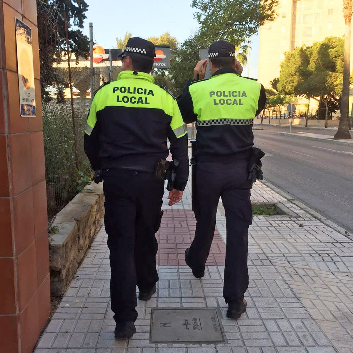 policia local a pie