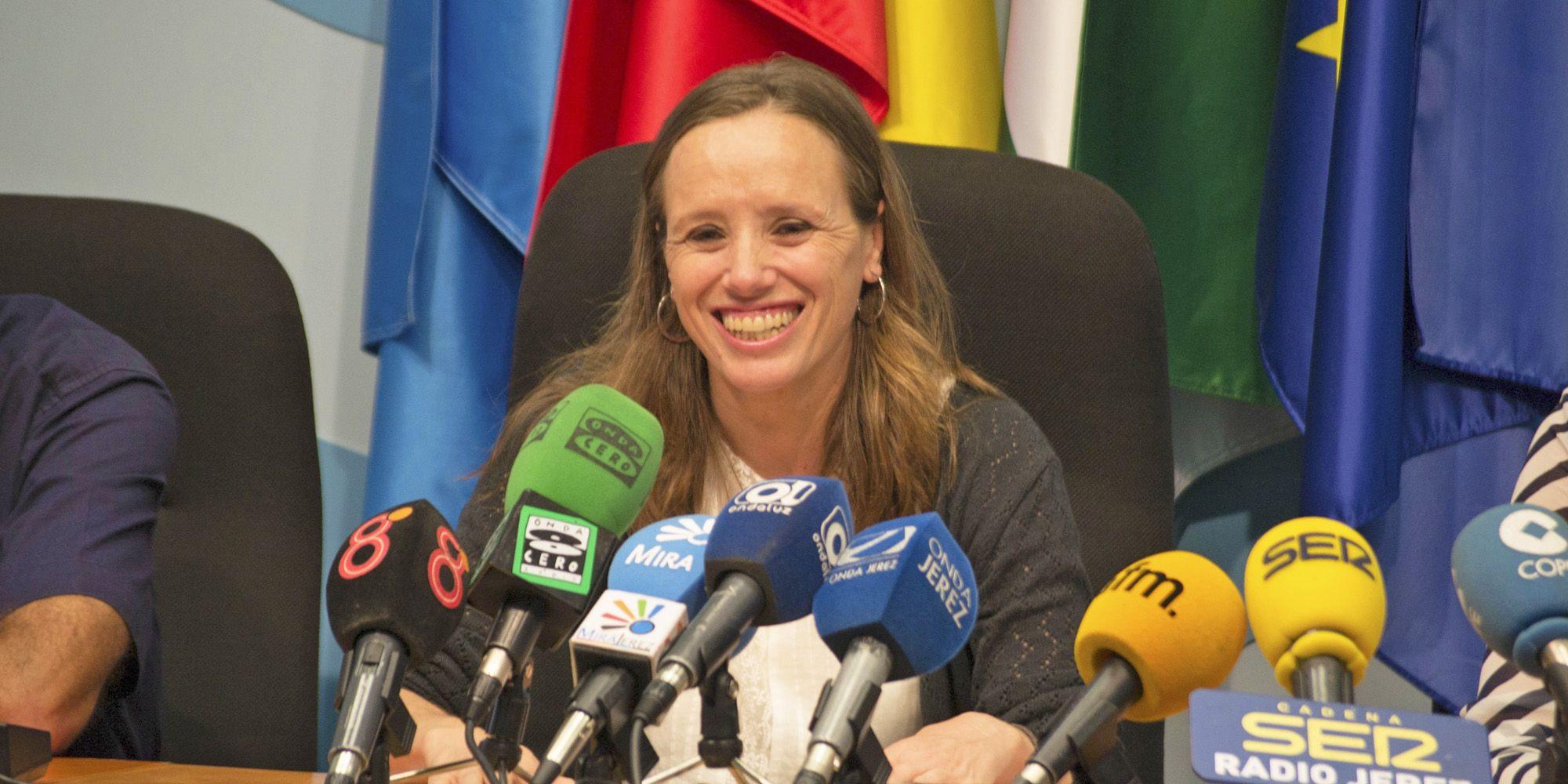 Laura Álvarez en rueda de prensa, MAYO 2016 | Pablo Illanas para MIRA Jerez