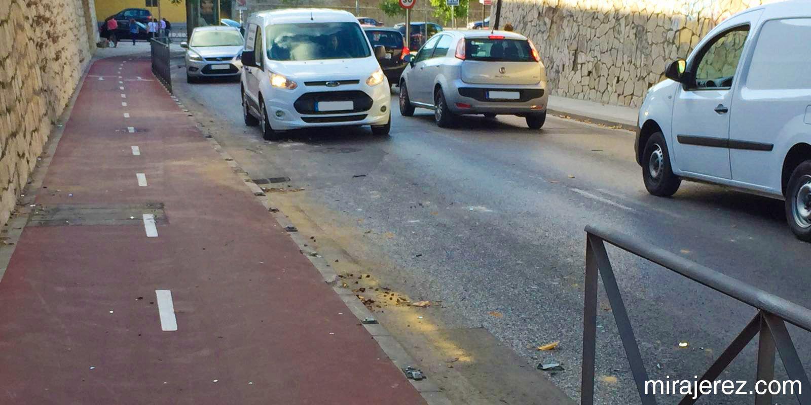 accidente carril bici jerez 1