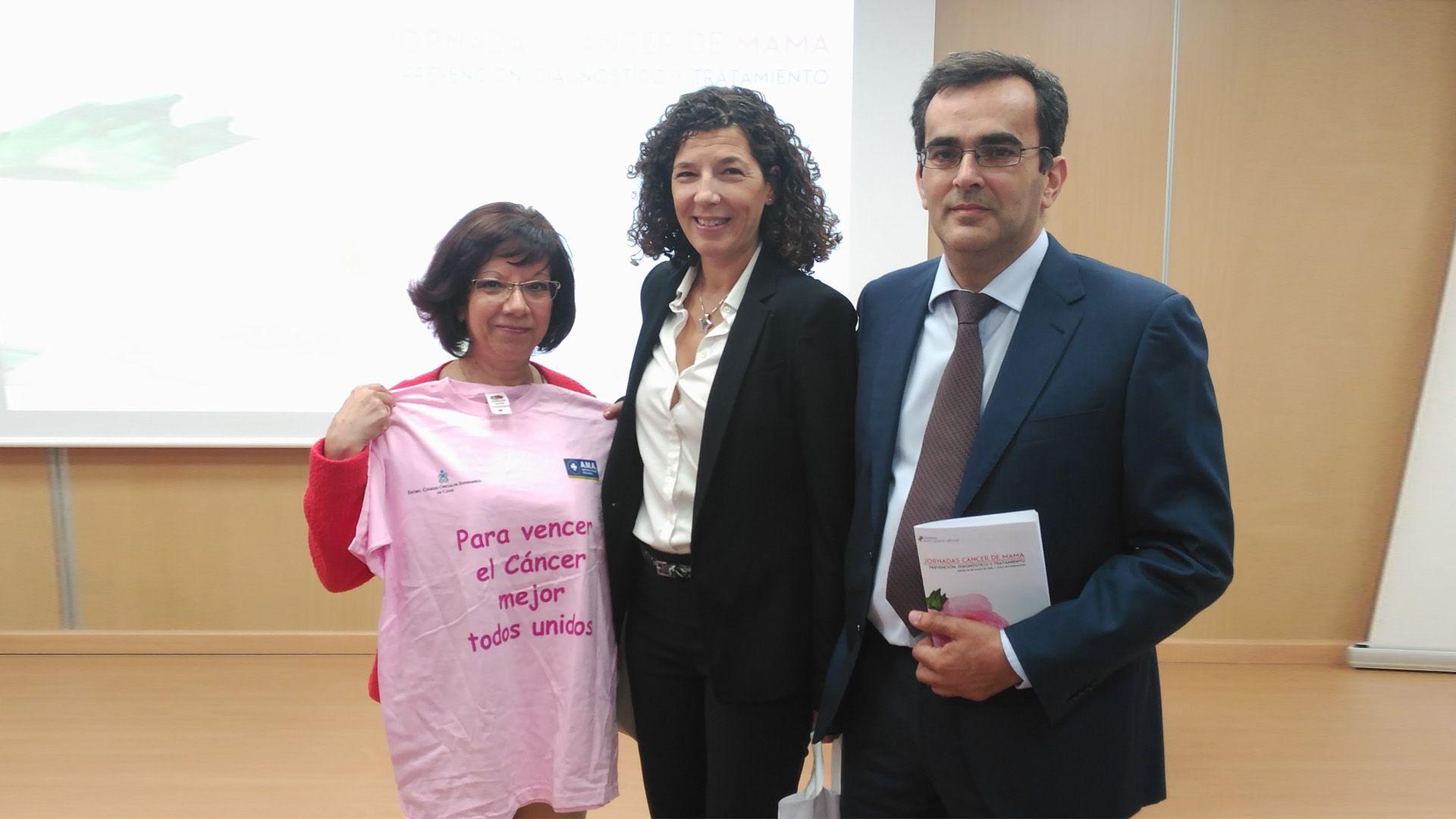 Carmen Collado, Teniente de Alcaldesa, Susana Ruiz, directora del Servicio de Enfermería y Manuel Carrillo, gerente del centro.