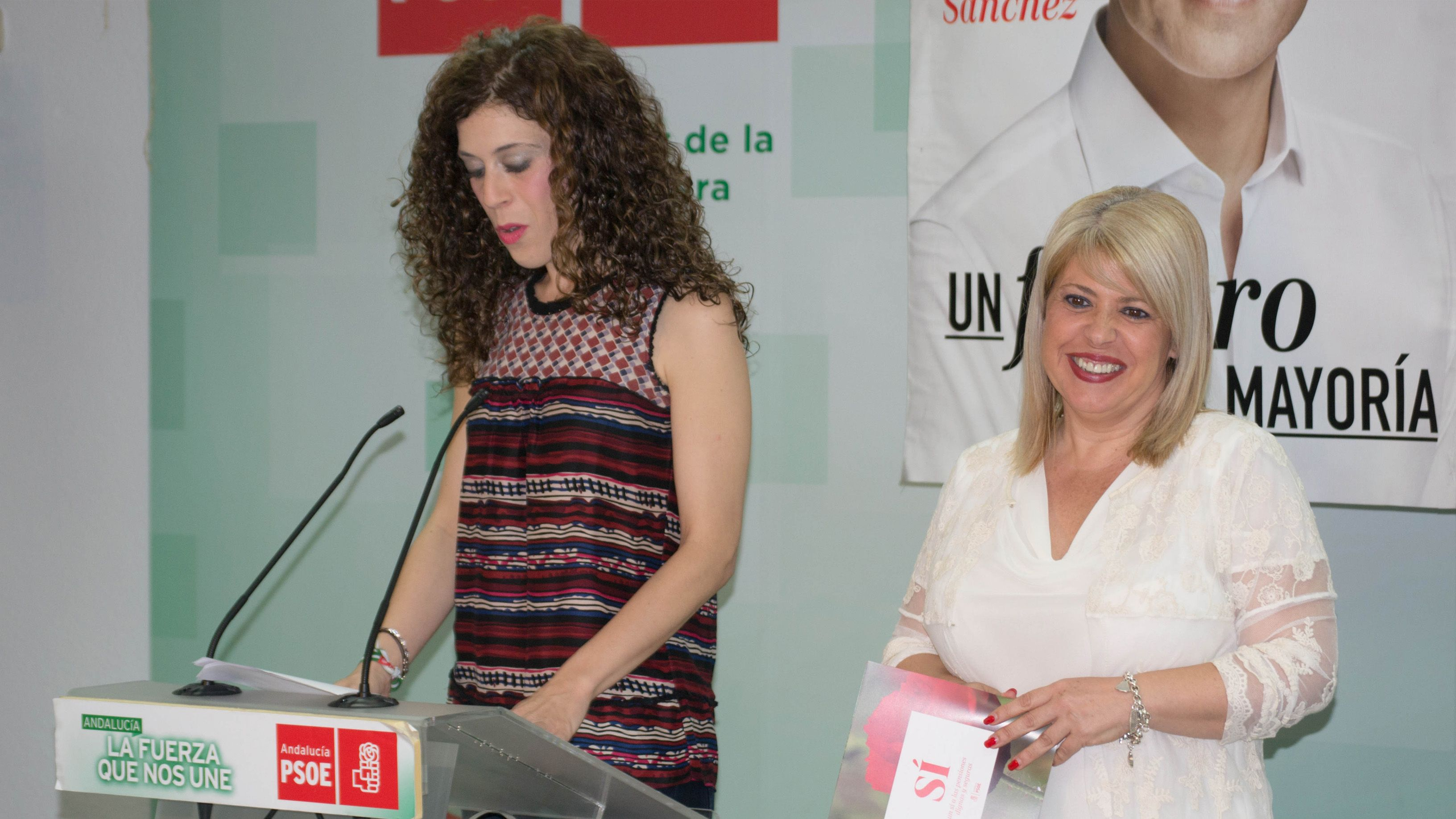 Miriam Alconchel en rueda de prensa junto a Mamen Sánchez, alcaldesa de Jerez | Pablo Illanas para MIRA Jerez