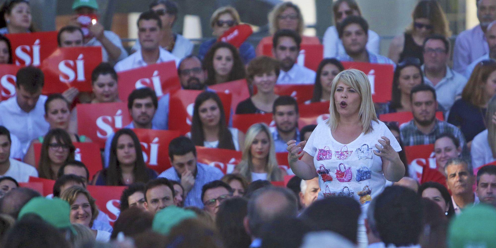 Mamen Sánchez, alcaldesa de Jerez, en un momento de su intervención, 6JUN2016   Juan Carlos Corchado para MIRA Jerez