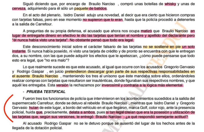 Extracto de la sentencia de la Audiencia. Isidro Daniel es Fernández. (CENDOJ)