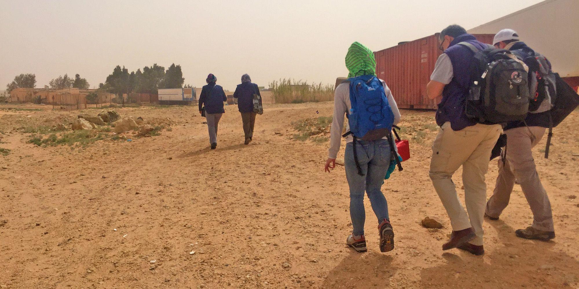 Voluntarios durante la expedición del pasado marzo