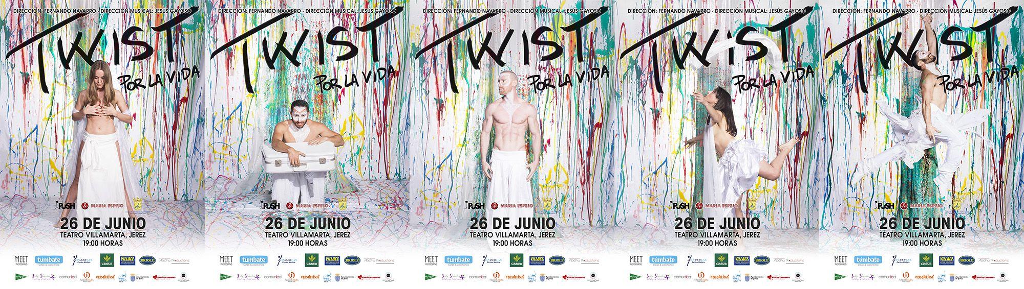 Cartelería de promoción de Twist Por La Vida