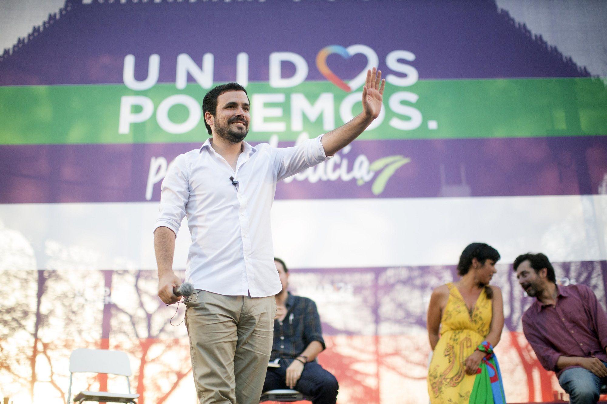 Intervención de Alberto Garzón, secretario general de Izquierda Unida, en elmitin de Unidos Podemos   23 jun 2016   Juan Carlos Corchado para MIRA Jerez