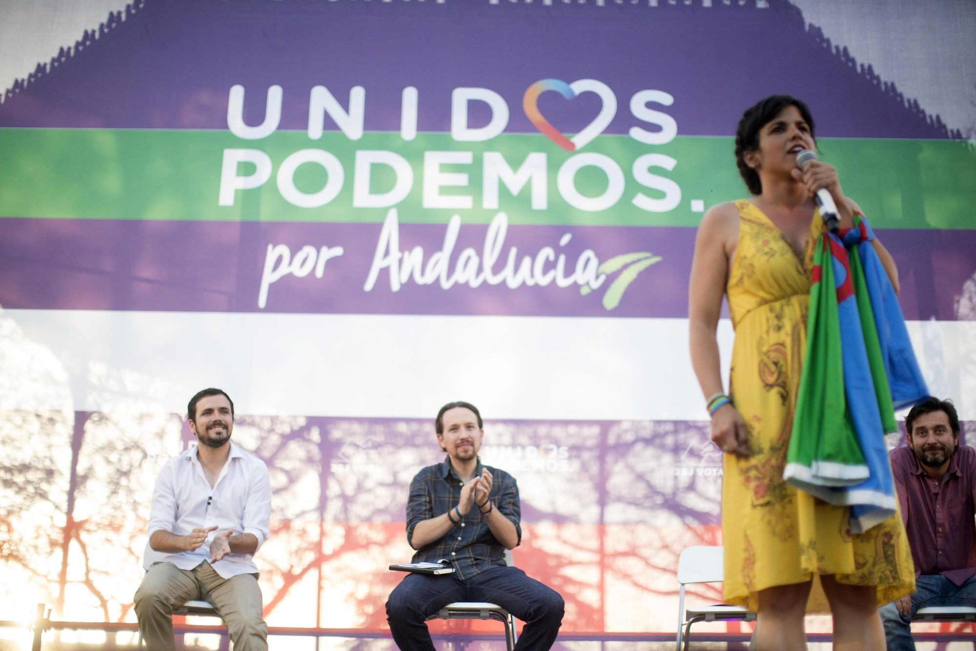 Intervención de Teresa Rodríguez en elmitin de Unidos Podemos   23 jun 2016   Juan Carlos Corchado para MIRA Jerez