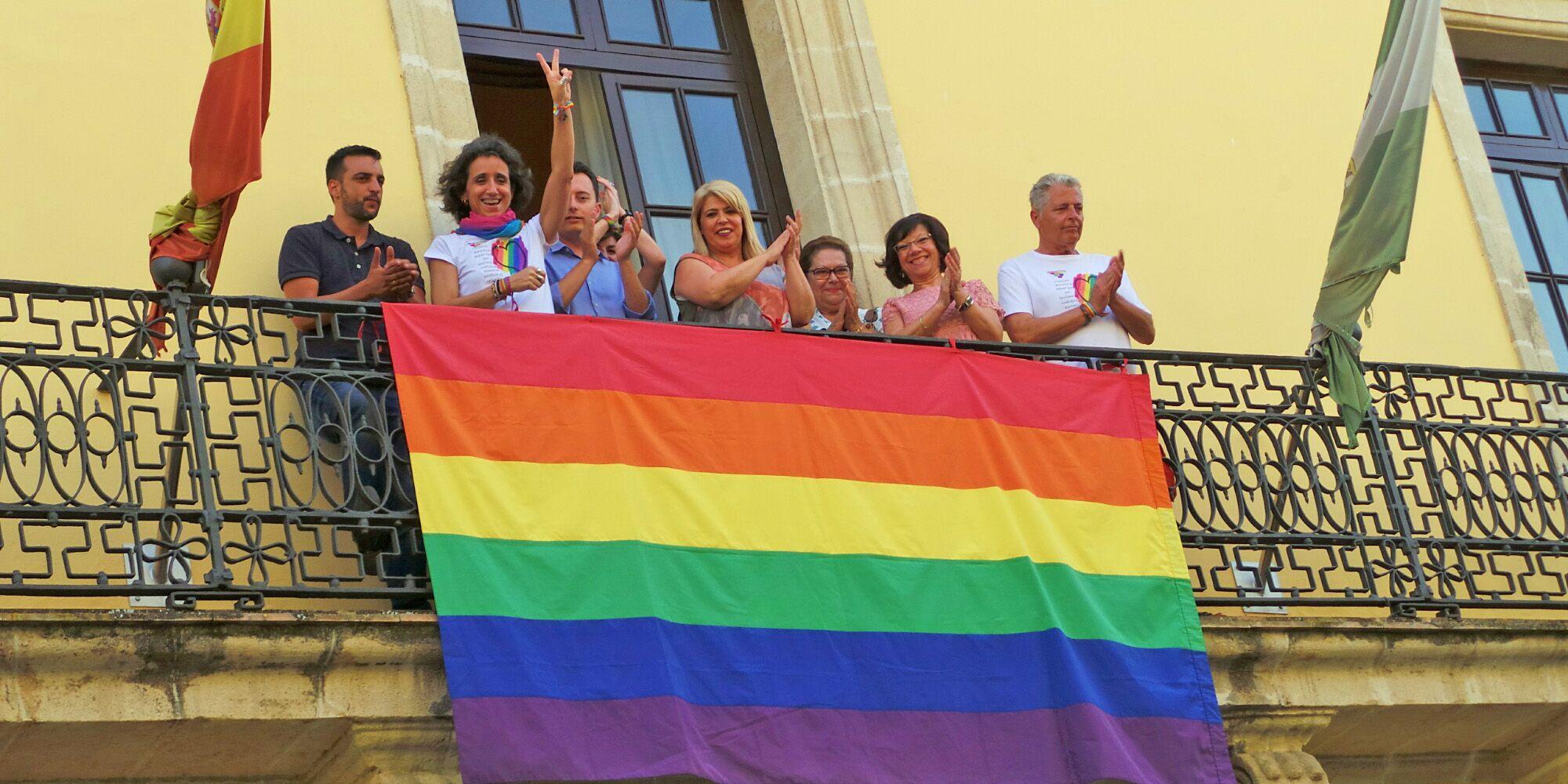 Bandera LGTB Jerez 1