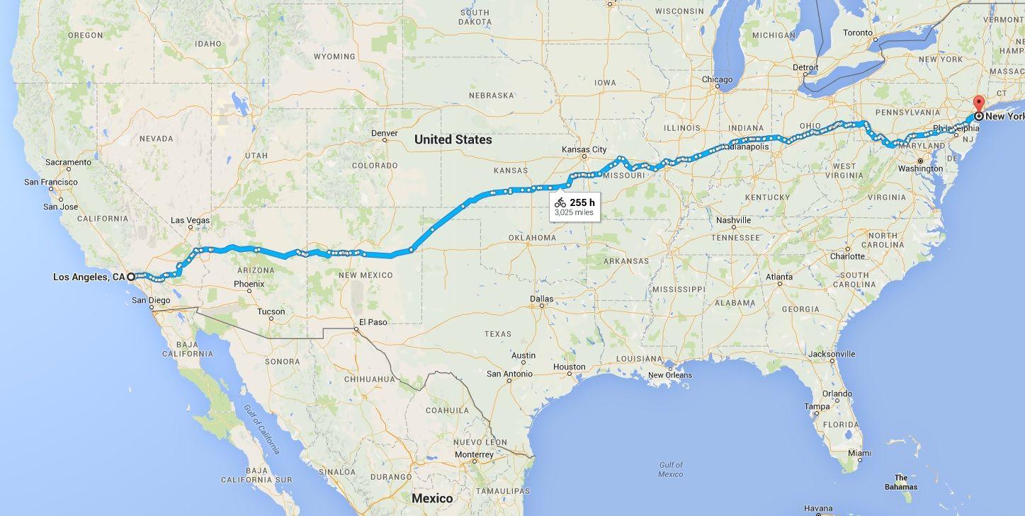 Recorrido, fte Google Maps
