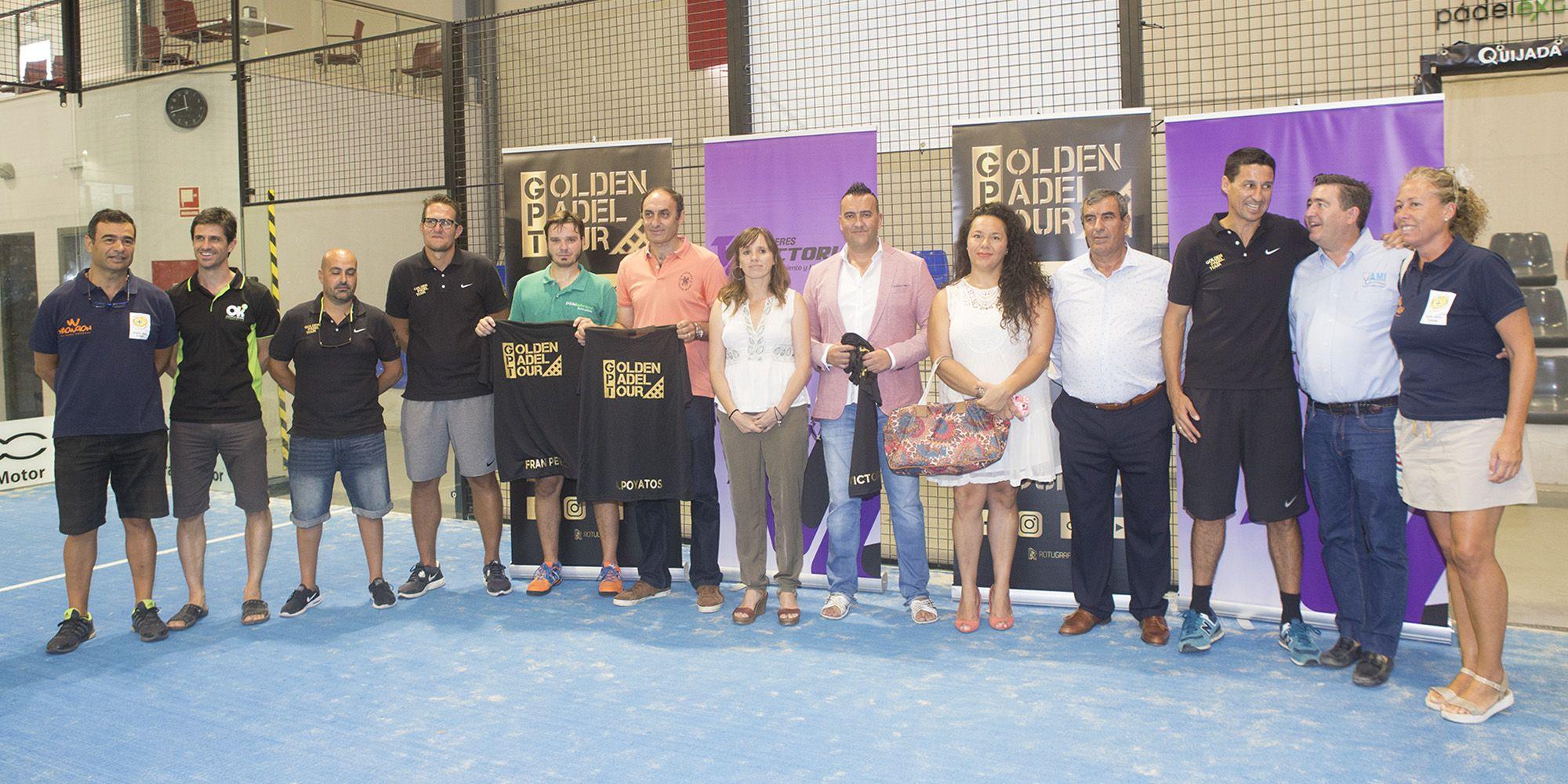 Patrocinadores, miembros de Golden Padel Tour junto a Laura Álvarez | Miguel Barrios para Grupo MIRA