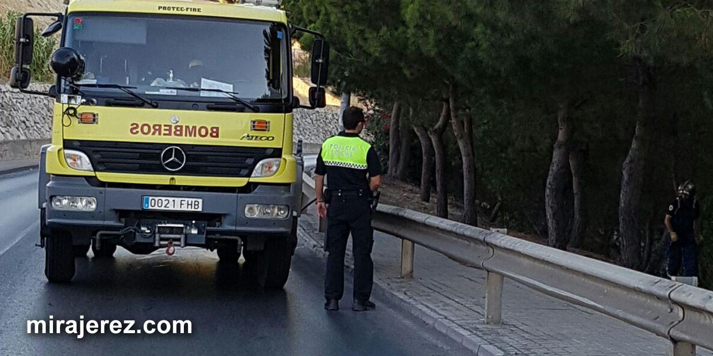 incendio pastos en Jerez 2