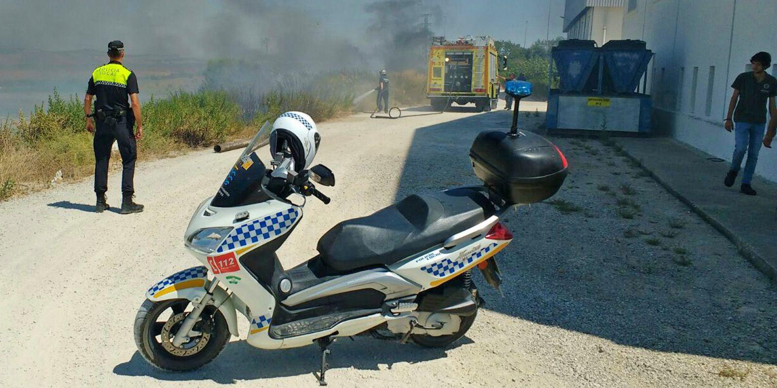 incendio Jerez carretera El Calvario