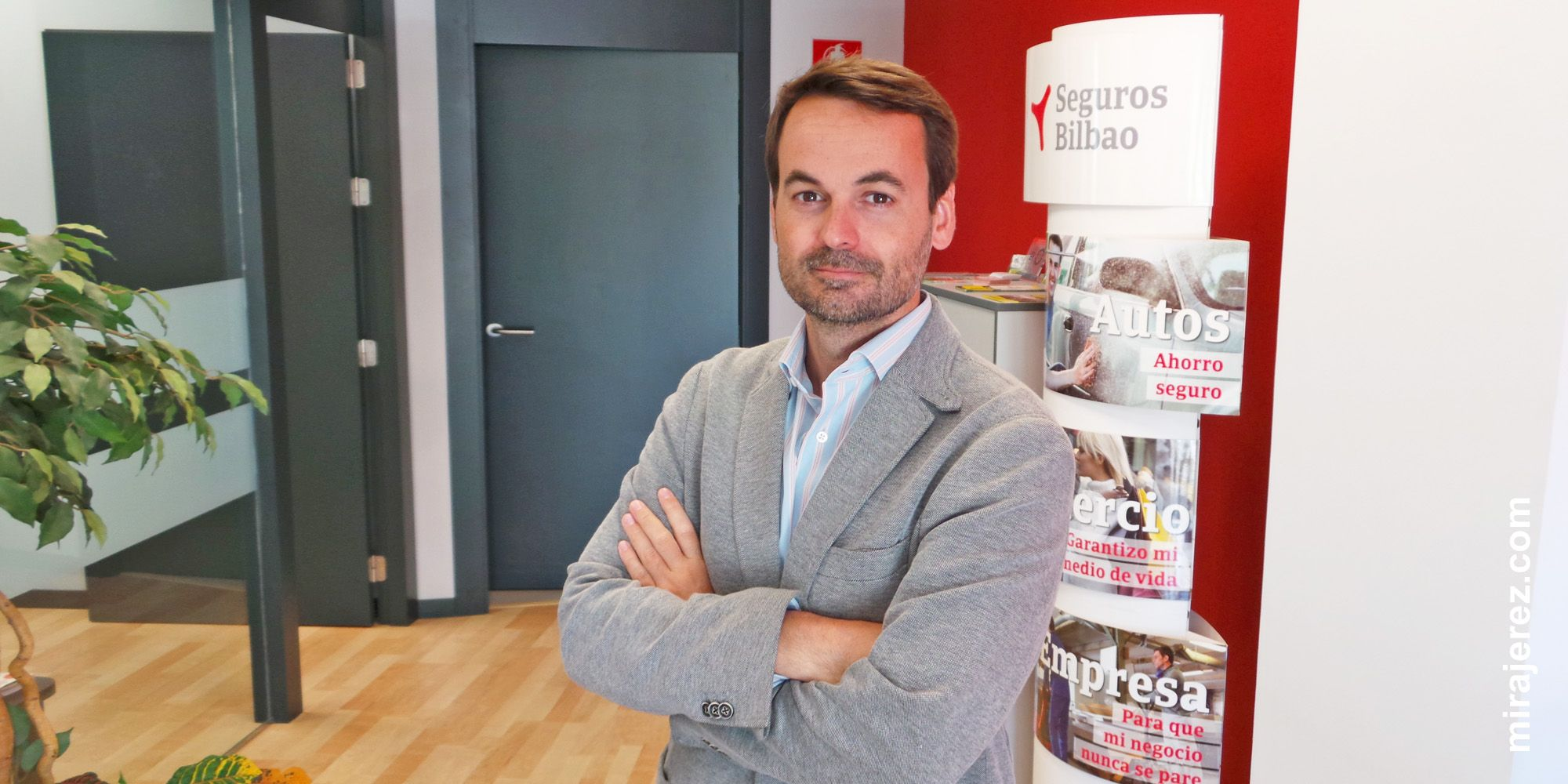 Javier Puyol, responsable de la oficina de Seguros Bilbao Jerez