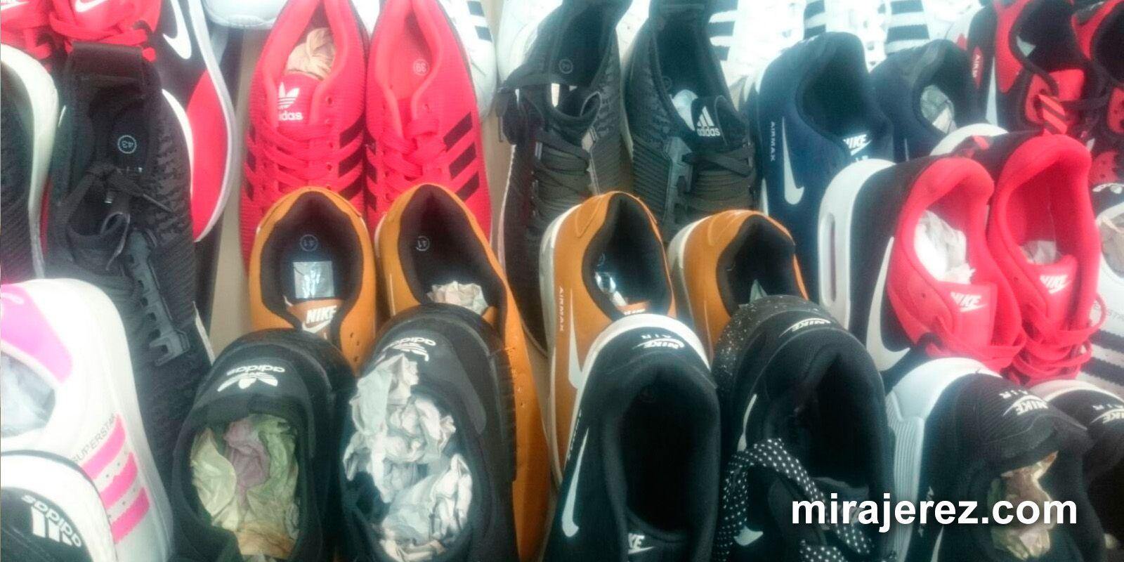 zapatillas de deporte falsificadas Adidas y Nike en Estella - Jerez - 2