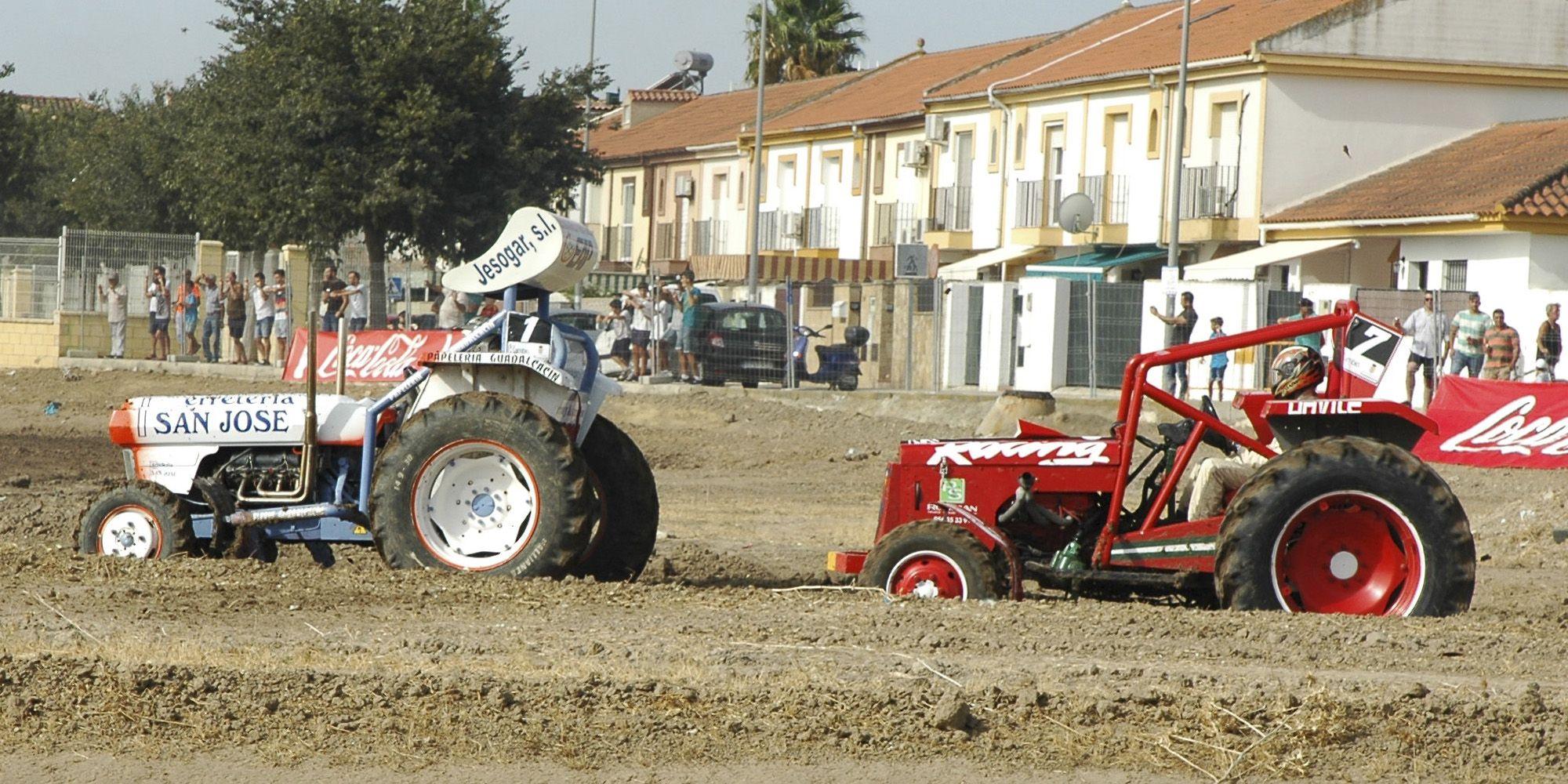 carrera tractores 2016 dos tractores 1 y 7