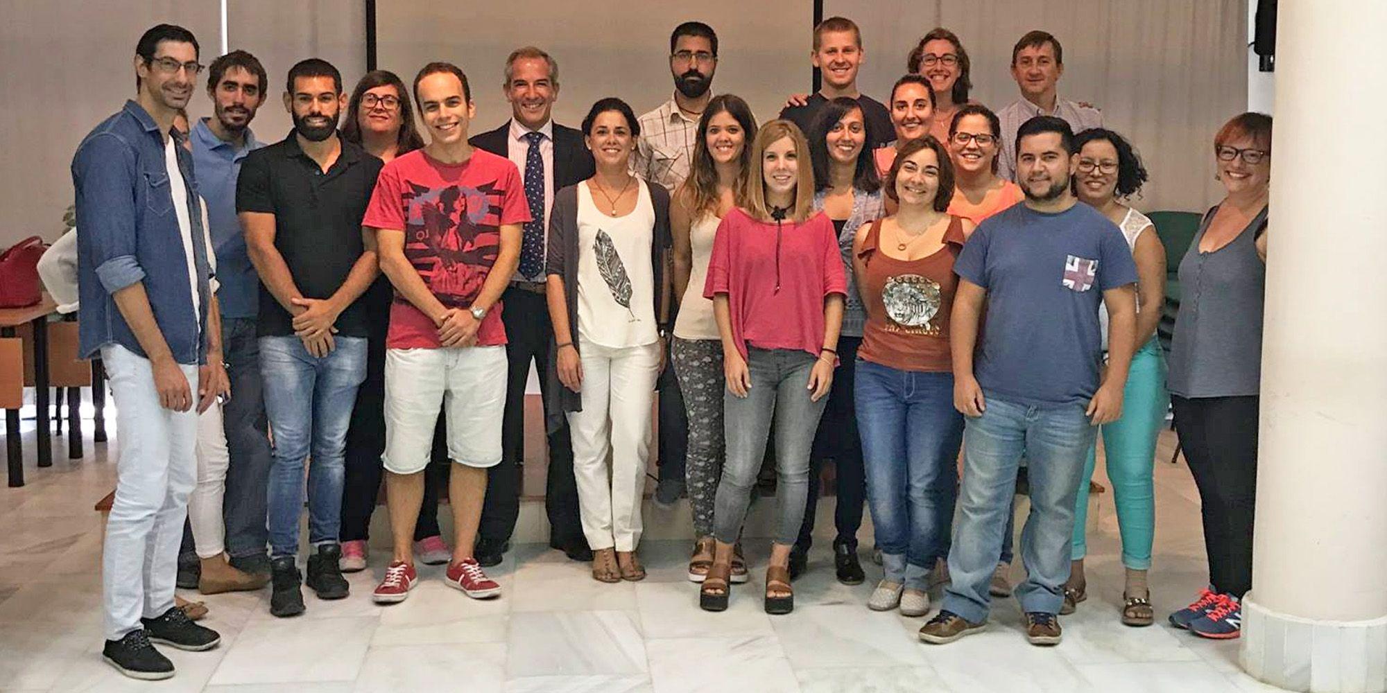 Enveros recibe a Manuel Cantos, director de la oficina de Manpower España en Jerez, y a Arancha Salido, consultora