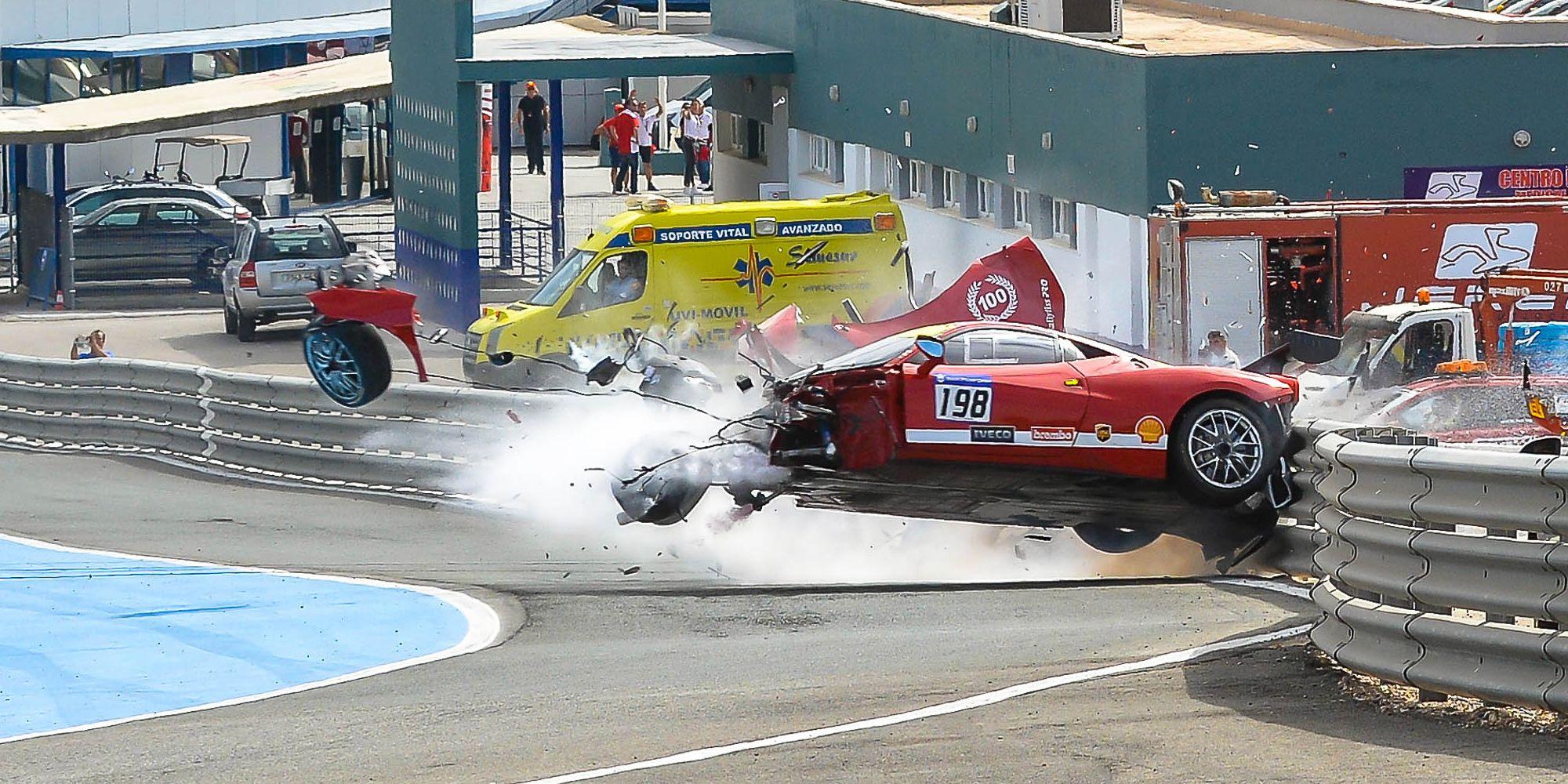 Grave accidente del canadiense Eric Cheung del Motor Service en la Copa Shell | Christian Cantizano para MIRA Jerez