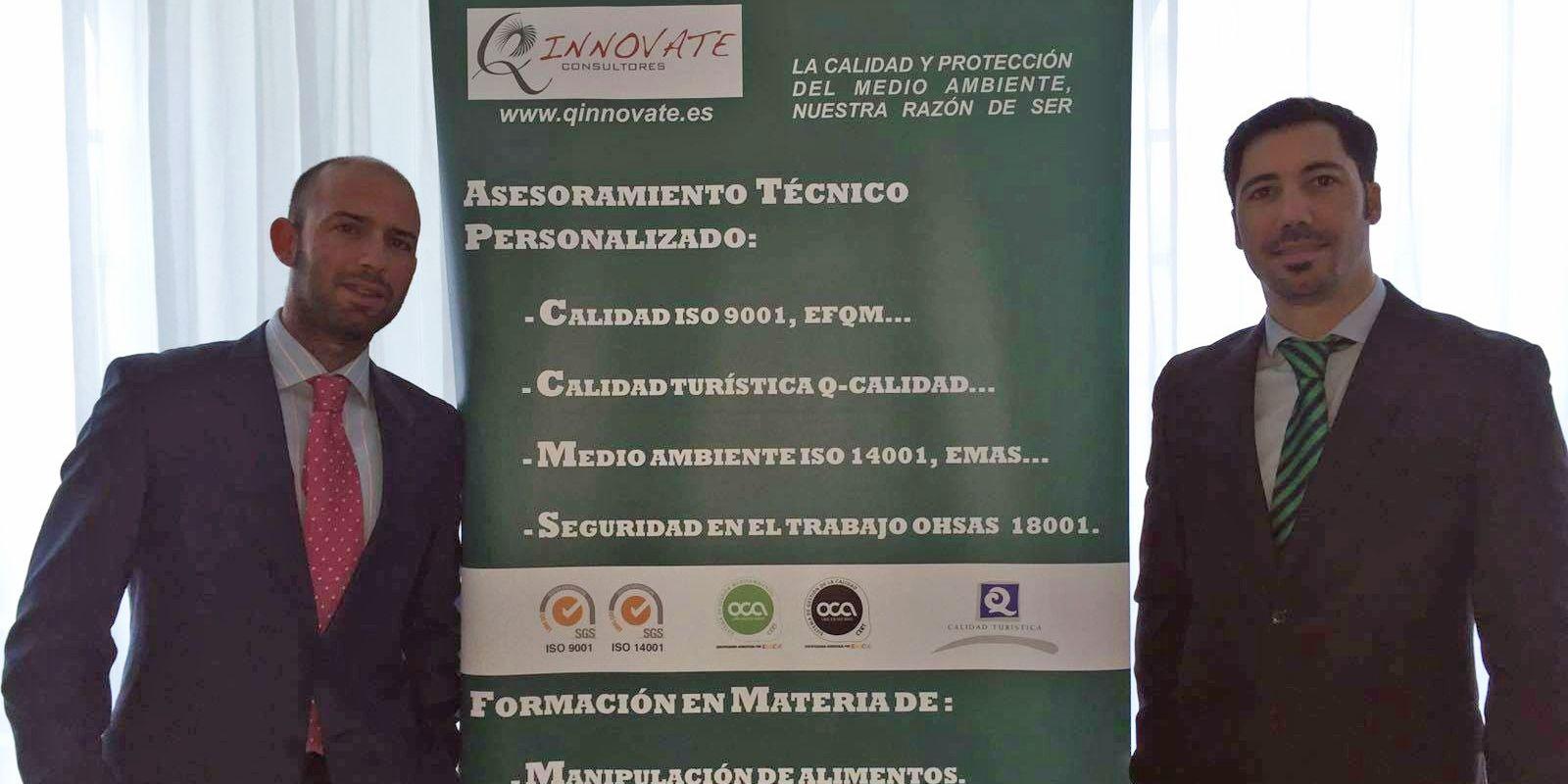Andrés Ramirez Jimenez, consultor técnico, junto a Adrián Macías, gerente de Q-innovate