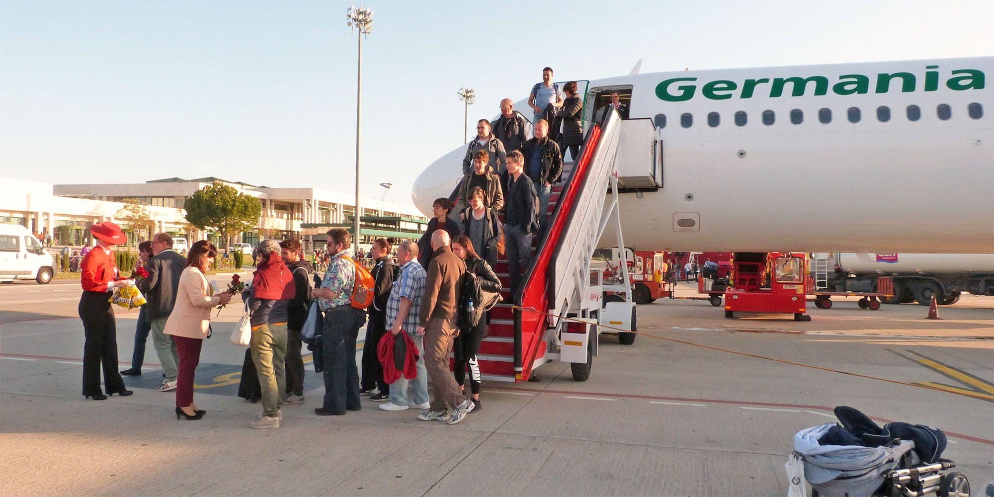 Aeropuerto de Jerez turistas