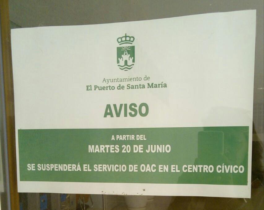 Cierran la oficina de atenci n al ciudadano del centro for Oficina del ciudadano