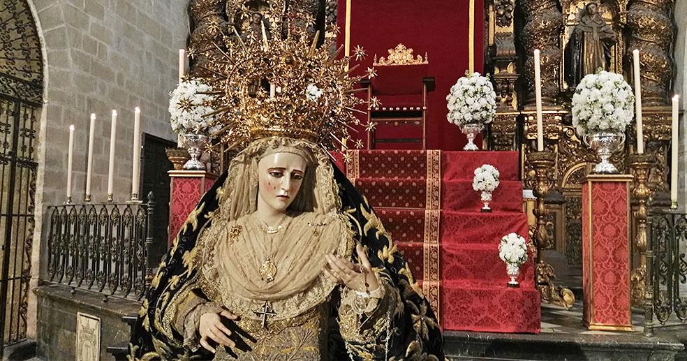 Resultado de imagen de Rosario Vespertino de Mª Stma. de la Confortación jerez<