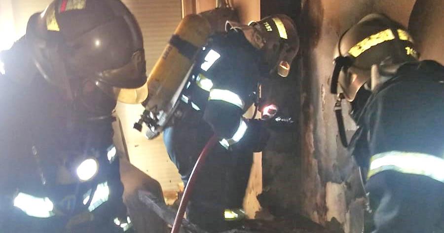 Incendio en una chabola en Campohermoso