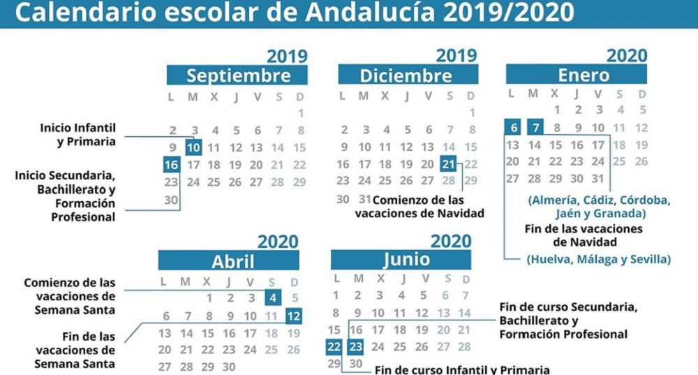 Calendario 2019 Escolar 2020 Madrid.Calendario 2020 Y 2019