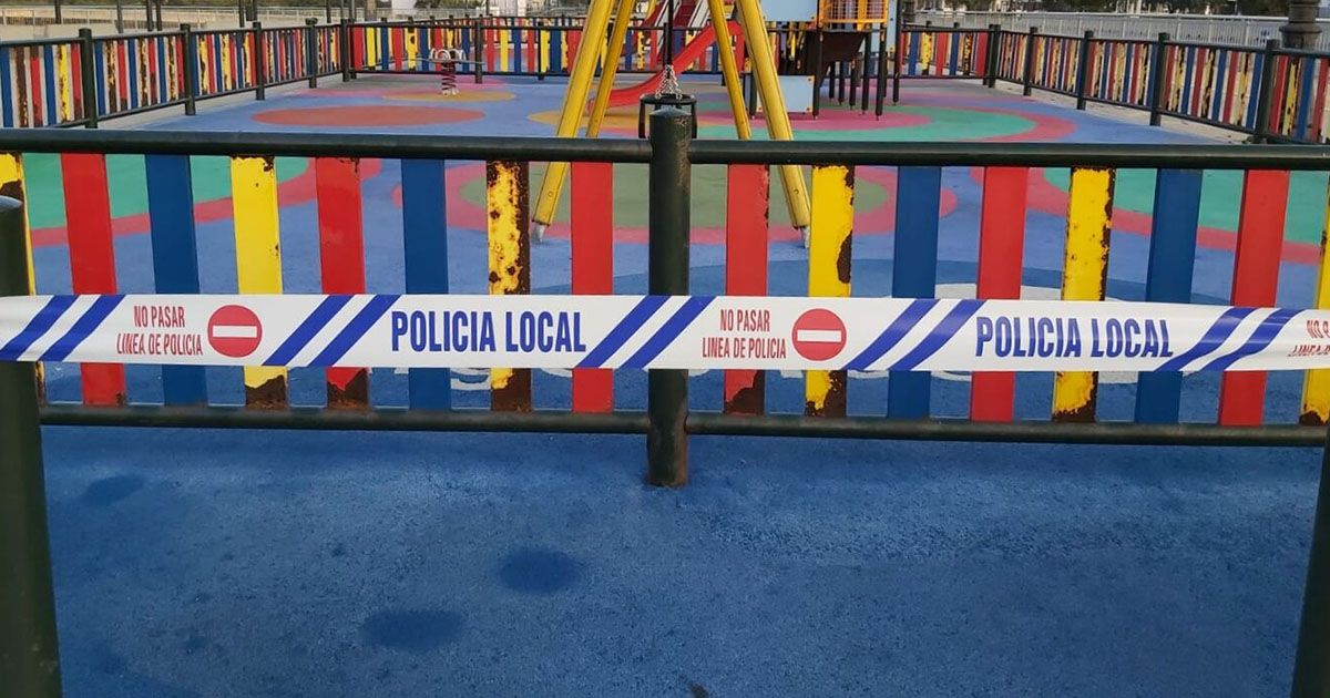 Parques infantiles cerrados