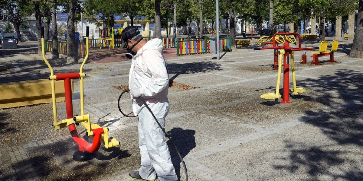 Desinfección en zonas de Jerez