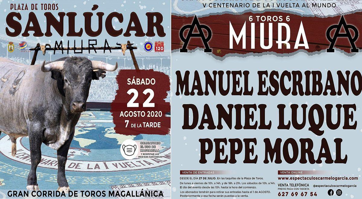 Cartel Sanlúcar 2020- Corrida Magallánica