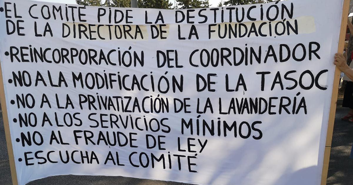 Manifestación asilo San José