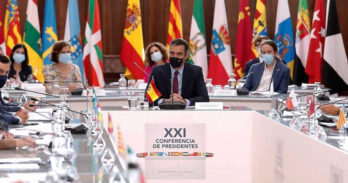 Pedro Sánchez durante la Conferencia de Presidentes | Foto: EP