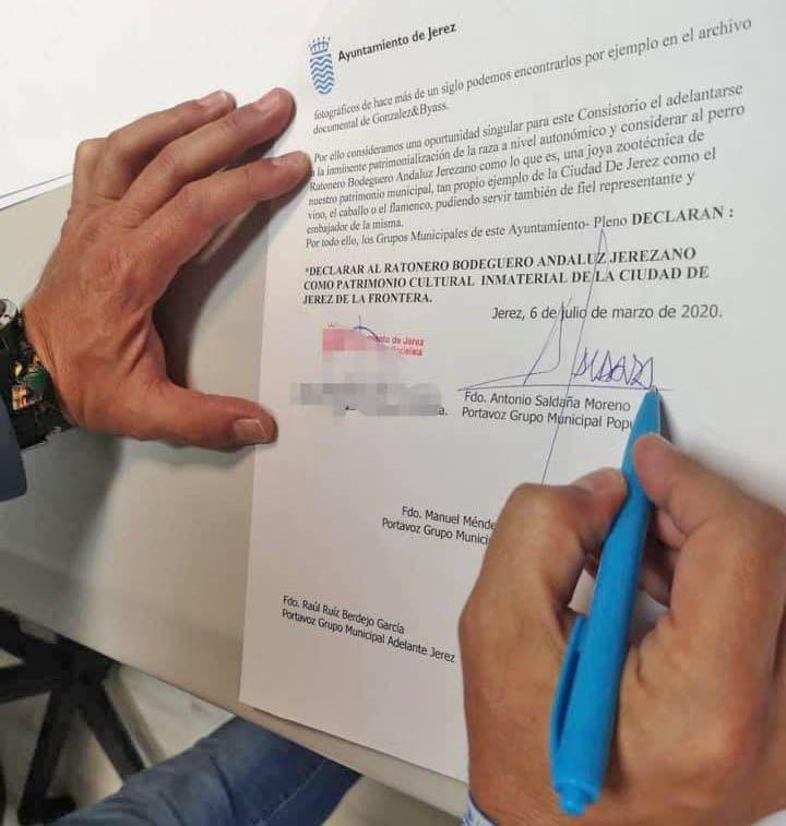 perro ratonero bodeguero peticion patrimonio jerez