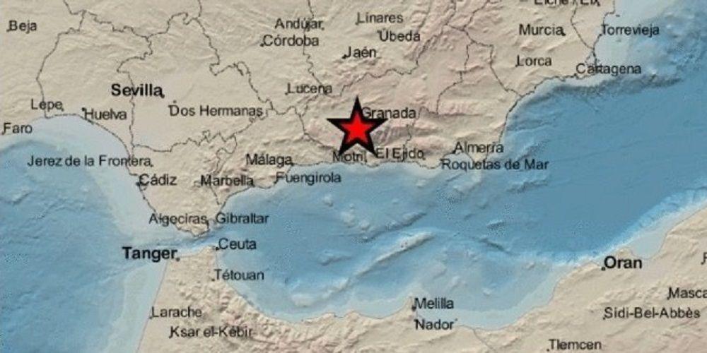 Terremoto registrado en Otura, provincia de Granada