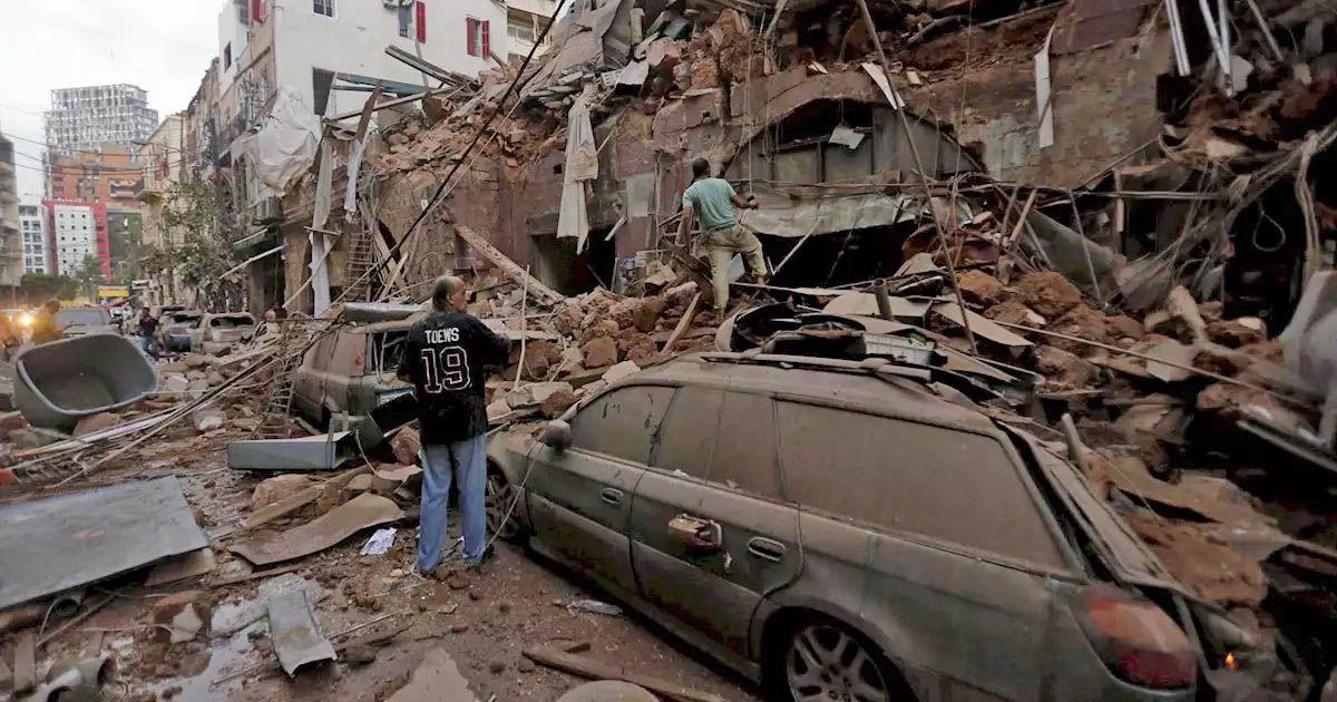 explosión en Beirut Líbano
