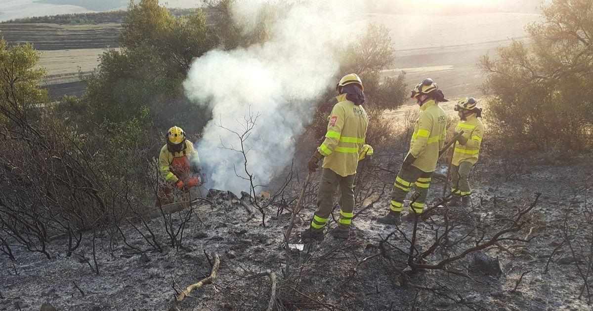 Bomberos controlado el incendio forestal de Olvera