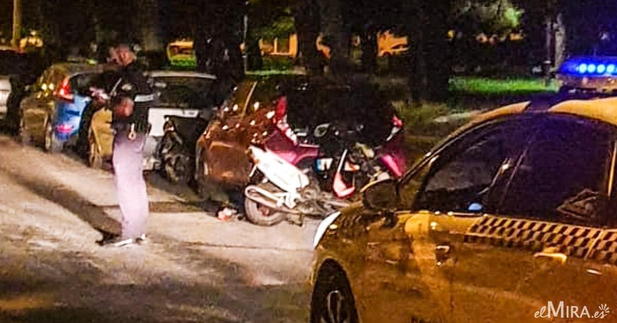 Accidente entre dos ciclomotores motos Jerez policia local