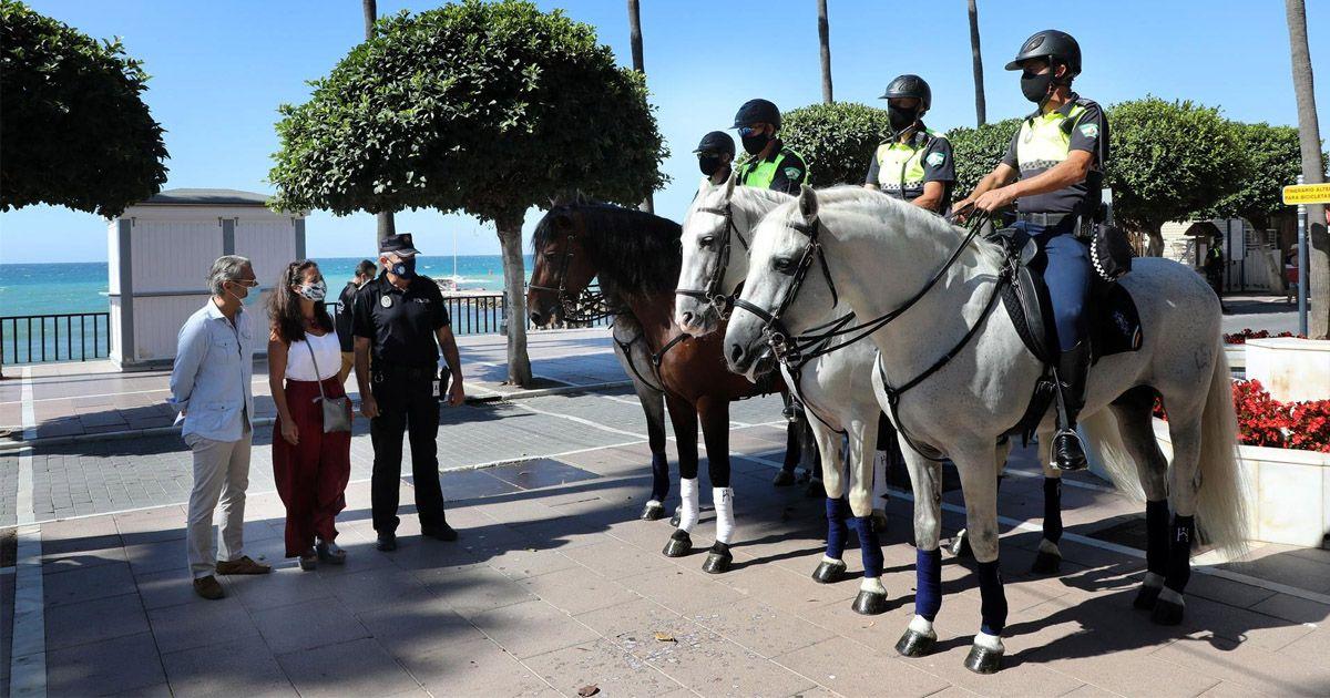 La Policía Local de Marbella amplía el Escuadrón de Caballería