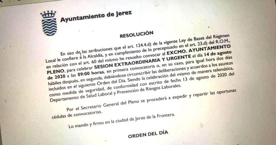 pleno extraordinario ayuntamiento de Jerez mamen sanchez