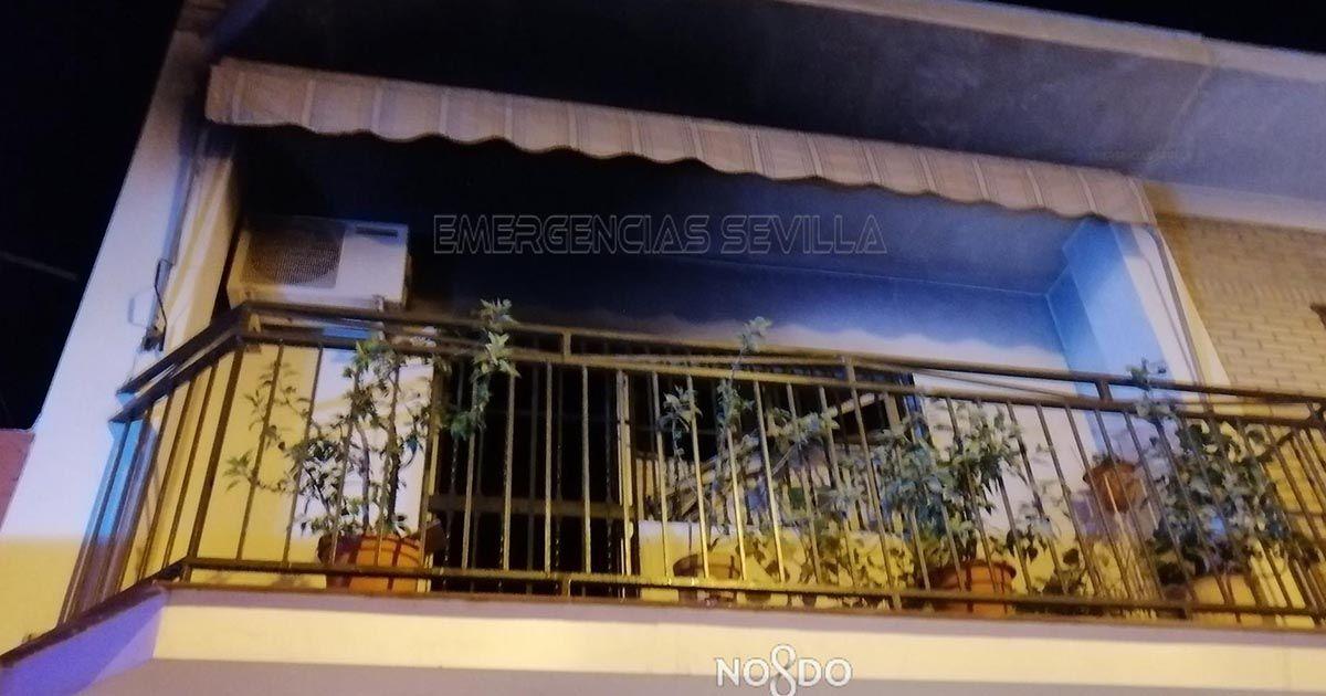 Incendio en una casa en Sevilla