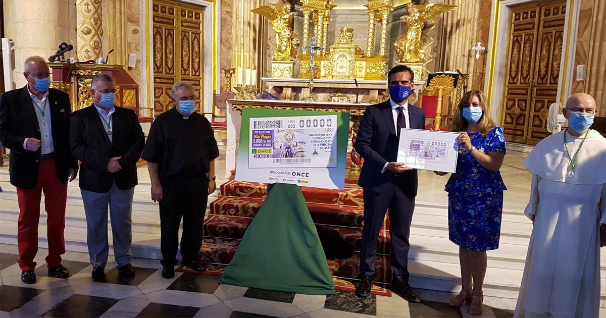 La ONCE dedica un cupón a la Virgen del Mar de Almería
