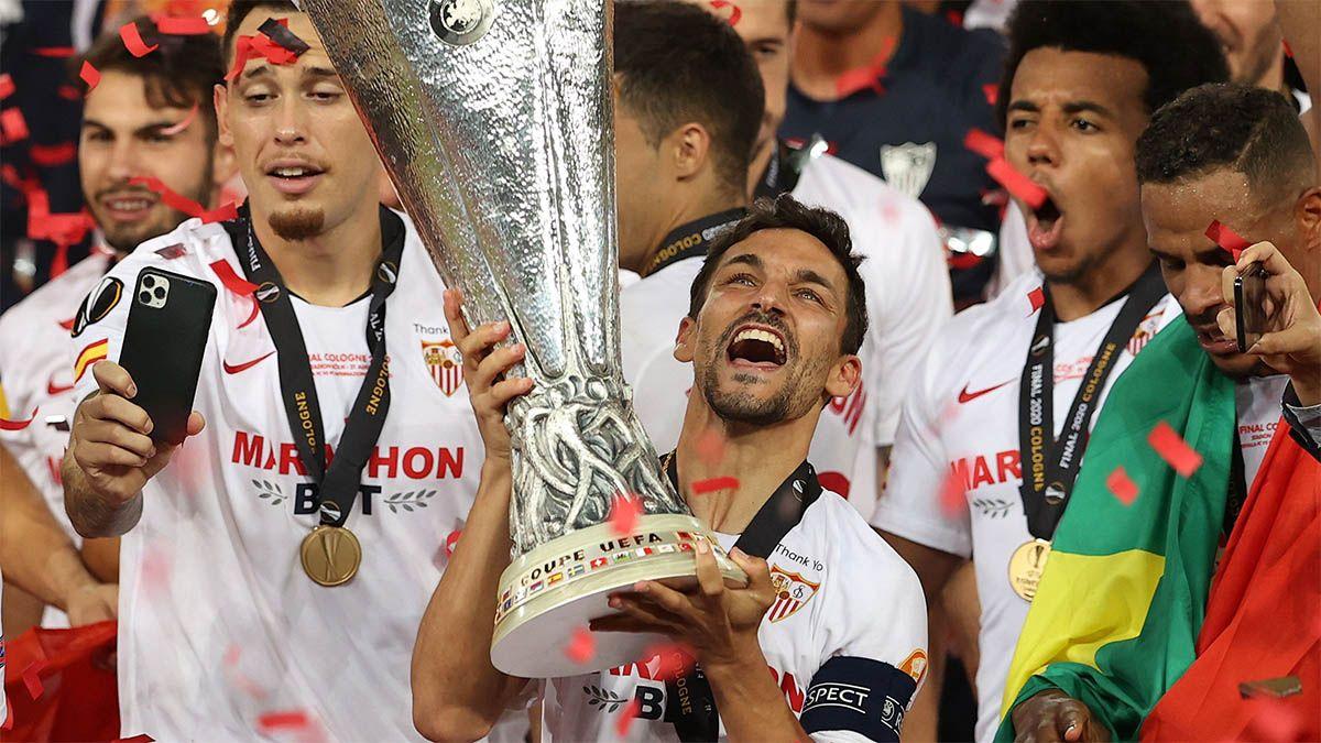 navas copa campeón SEVILLA FC INTER MILAN EUROPA LEAGUE