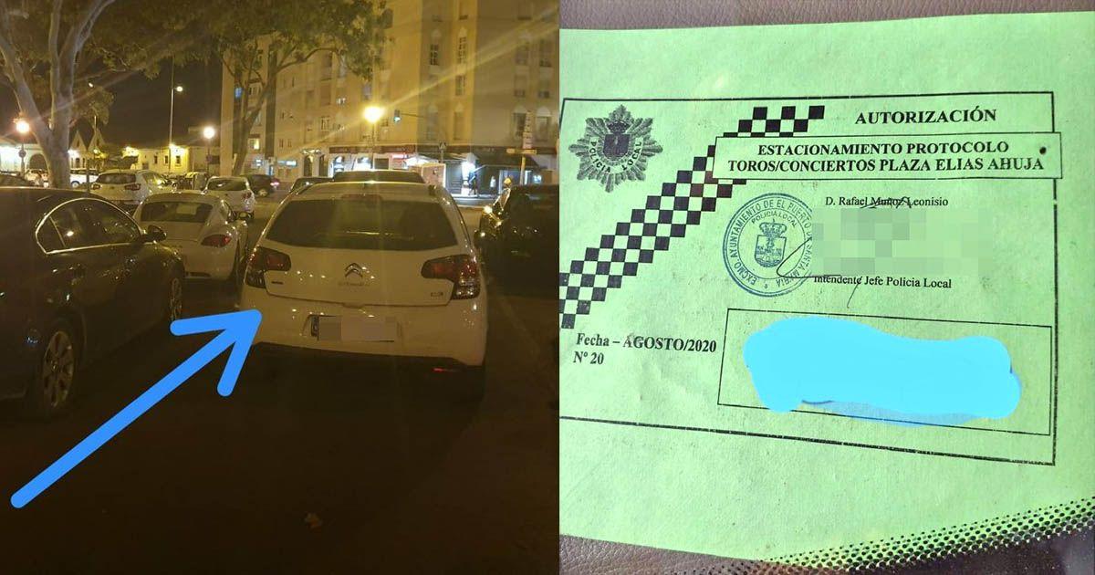 polémica coche oficial jefe de policía local el puerto unión portuense