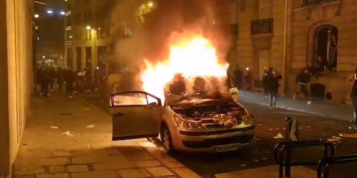 Disturbios en París tras la derrota del PSG en Champions