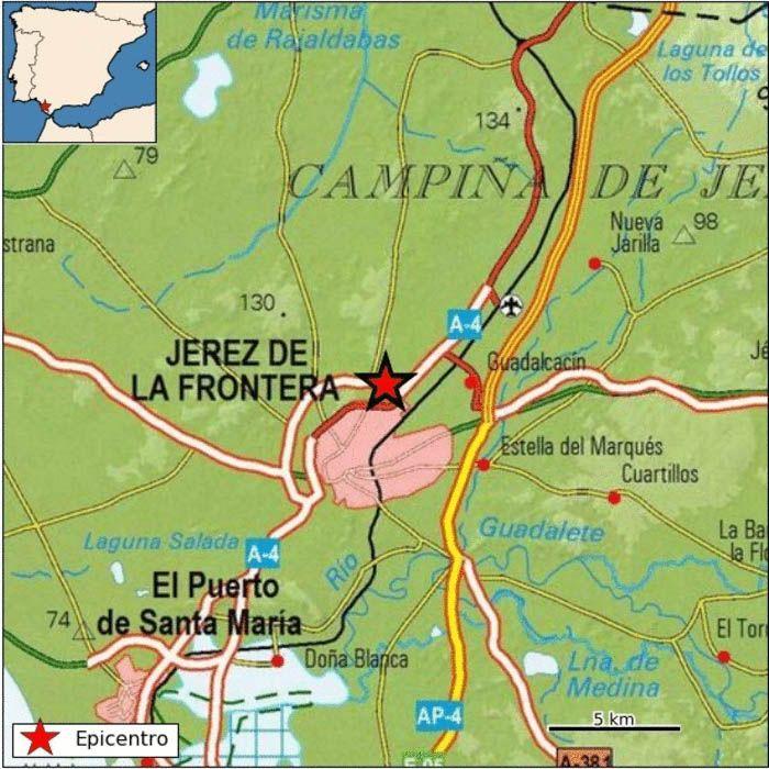 TERREMOTO EN JEREZ epicentro