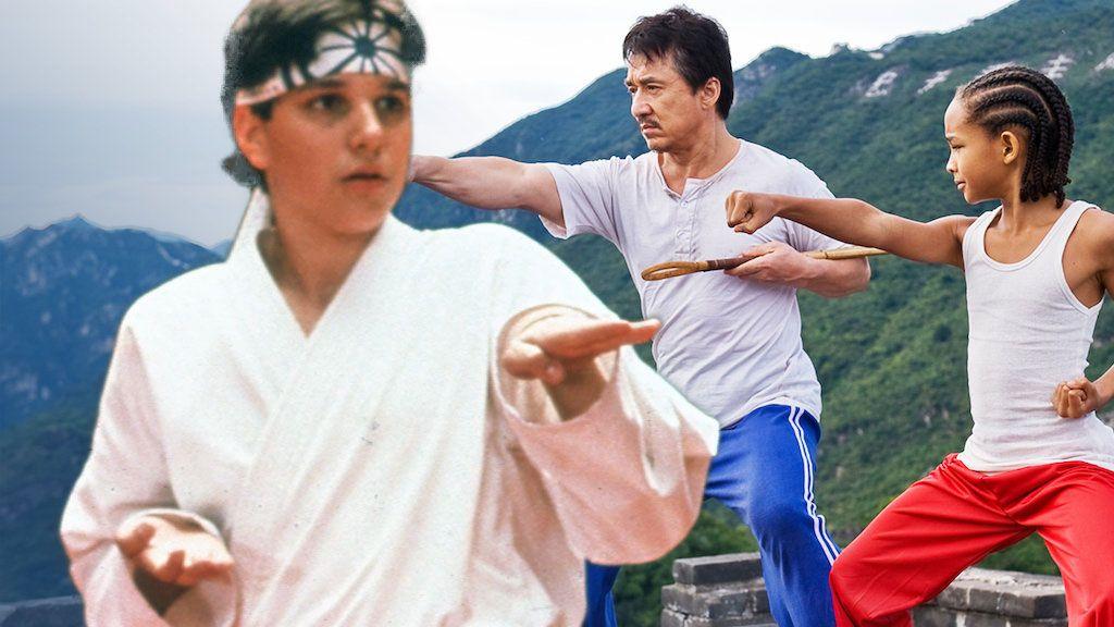 Ralph Macchio karate kid will smith jaden smith