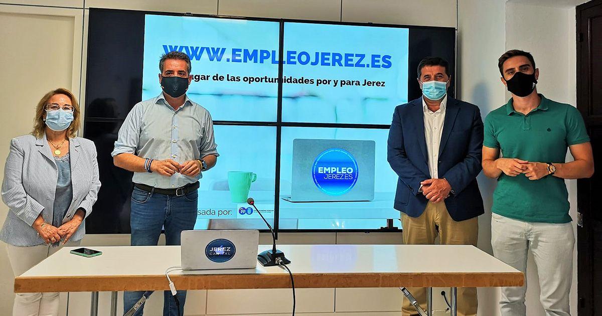 El PP crea empleojerez.es, el primer portal gratuito de empleo por y para Jerez