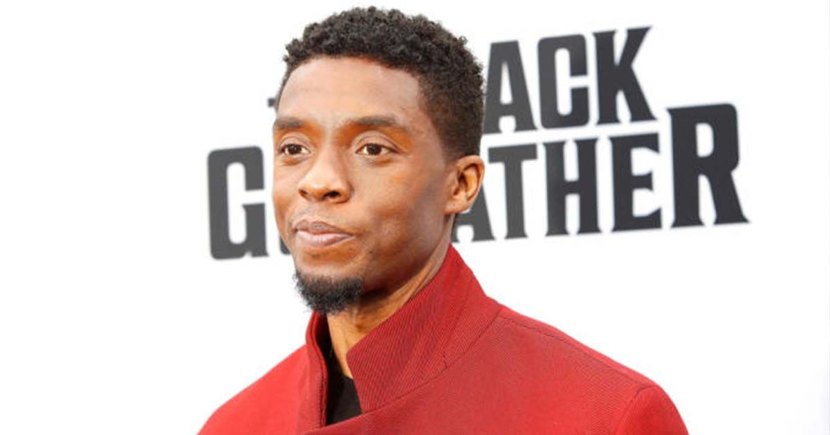 Chadwick Boseman en el estreno de 'Black Panter'